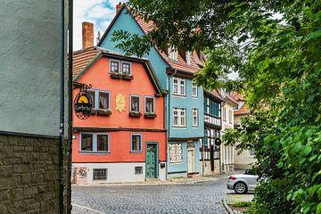Historischen Häuser der Schildgasse in Erfurt von Gunter Kirsch