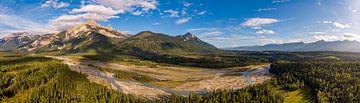 Luftbildpanorama des Hedberg Peak in der Nähe von Golden von Hans-Heinrich Runge