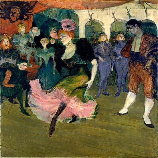 Marcelle Lender Dansend de Bolero in Chilperic, Henri de Toulouse-Lautrec