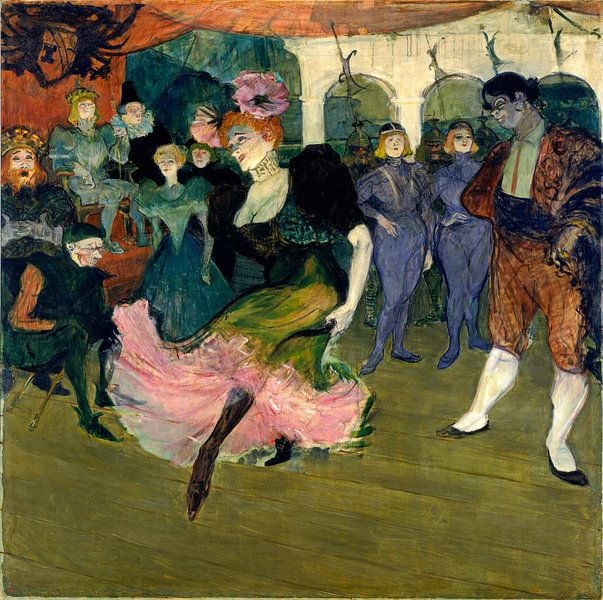 Marcelle Lender Dansend de Bolero in Chilperic, Henri de Toulouse-Lautrec van Liszt Collection