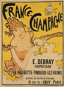Plakat mit Werbung für France-Champagne - Pierre Bonnard, 1889-1897 von Atelier Liesjes