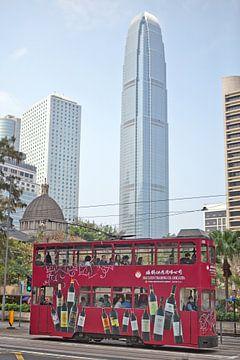 Dubbeldekker tram in Hong Kong van t.ART