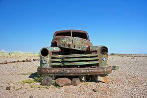 Oldtimer in Namib Desert, Africa van Manuel Schulz