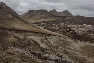 bemoste lavavelden landmannalaugar van Stephan van Krimpen