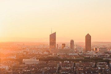 Sunrise Skyline van Sander van der Werf