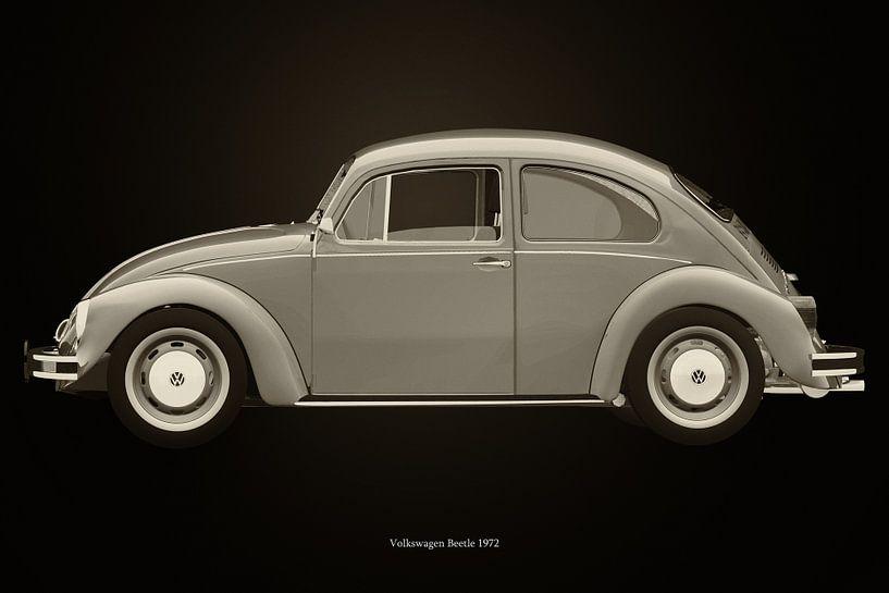Volkswagen Kever Zwart en Wit van Jan Keteleer