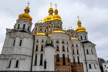 Außenansicht des Pechersk-Lavra-Klosters in Kiew, Ukraine - Europa von WorldWidePhotoWeb