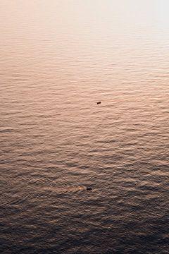 Bootjes tijdens zonsondergang van Dayenne van Peperstraten