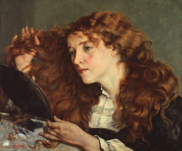 Jo, the Beautiful Irish Girl, Gustave Courbet von Meesterlijcke Meesters