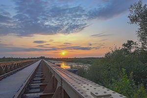 Zonsondergang bij de Moerputtenbrug van