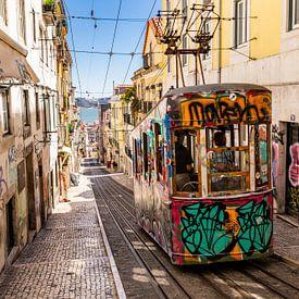 Ascensor da Bica (Lissabon) van Koen Henderickx