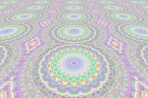 Mandala Art Pastel Perspectief van