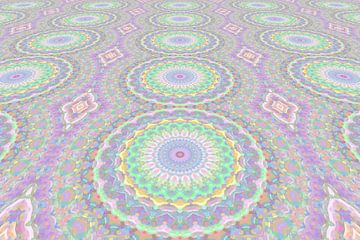 Mandala Art Pastell Perspektive von Marion Tenbergen