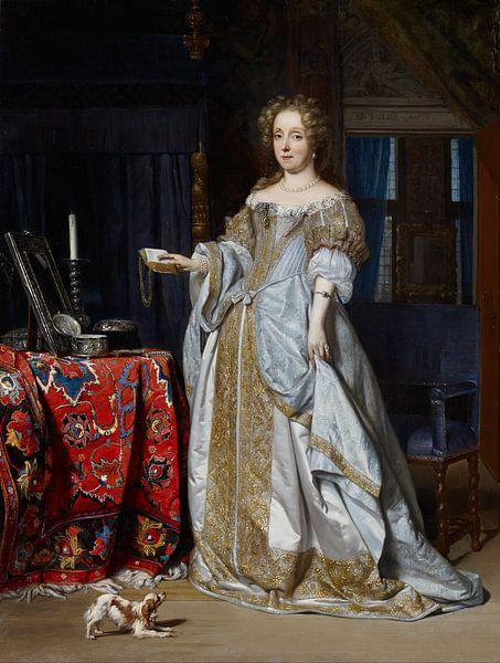 Gabriel Metsu - Portret van een Dame van 1000 Schilderijen