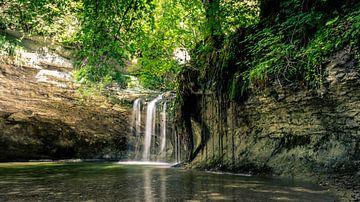 waterval in Frankrijk in het gebied franche-comte (du herisson) van