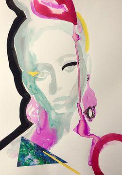A Drop of Pink van Helia Tayebi Art