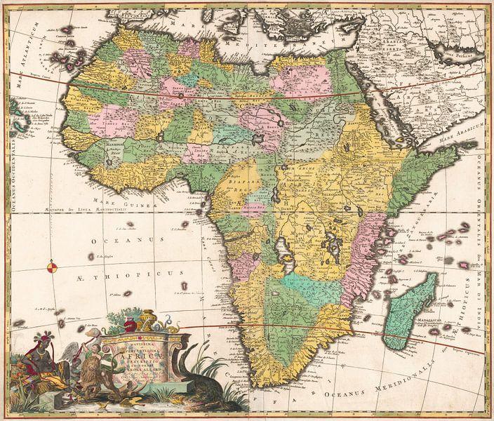 Karte von Afrika, Carel Allard von Meesterlijcke Meesters