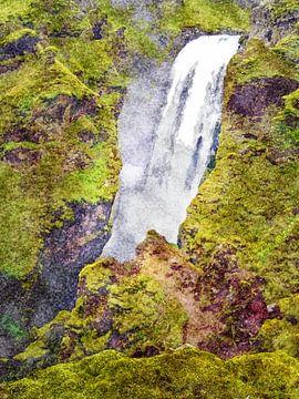 Island: Wasserfall Skógafoss 10 von Frans Blok