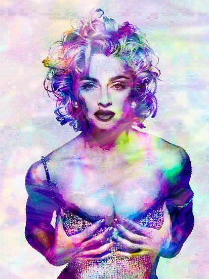 Madonna Vogue Abstraktes Portrait