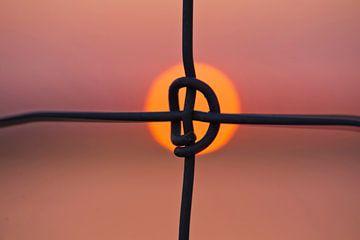 Abstract zonsondergang von Hilda van den Burgt