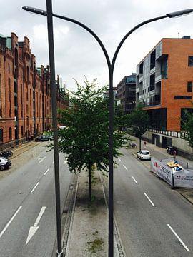 Hamburg Duitsland - Pakhuisdistrict. van Isabelle Val