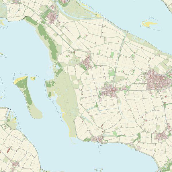Kaart van Dirksland van Rebel Ontwerp
