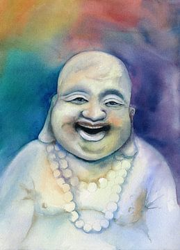Lachender Buddha van Jitka Krause