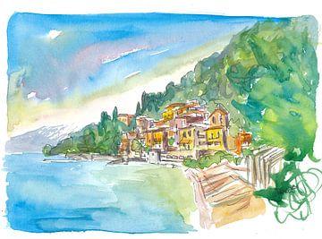 Romantisches Varenna Lago di Como Italienisches Seedorf mit Bergblick von Markus Bleichner