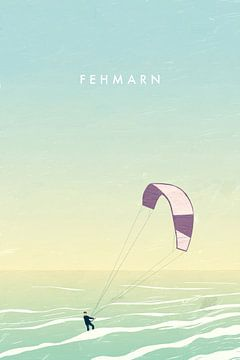 Kitesurfer auf Fehmarn von Katinka Reinke