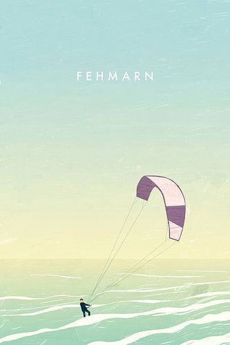 Kitesurfer auf Fehmarn van Katinka Reinke