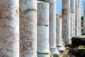 Eine Reihe von abgerissenen Tempeln von Jamy Danen