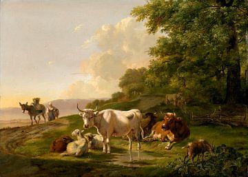 Landschaft mit Rindern, Pieter Gerardus van Os
