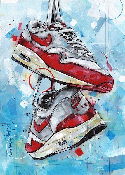 Nike air max 1 Malerei von Jos Hoppenbrouwers
