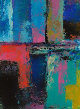Abstrakte Komposition 1141 von Angel Estevez