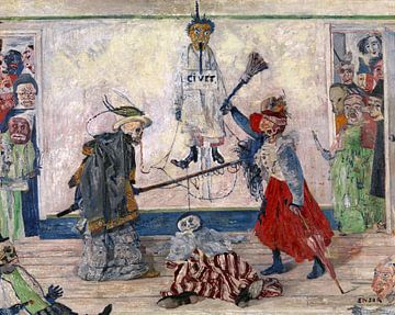James Ensor. Rahmenstreit über Erhängtes