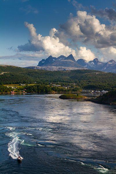Saltstraumen in Noorwegen van Hamperium Photography