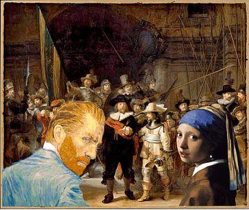 Vincent und Pearl beobachten Rembrandt von ! Grobie