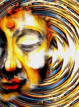 Boeddha zwaaiend 2021 van Michael Ladenthin