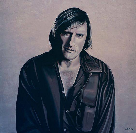 Gerard Depardieu Schilderij