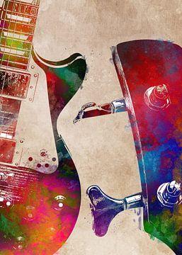 Gitaar 8 muziekkunst #gitaar #muziek van JBJart Justyna Jaszke