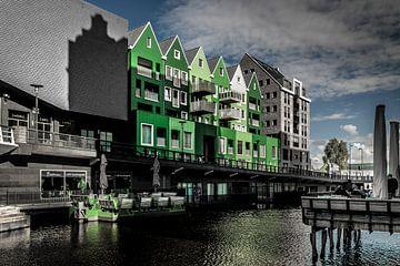Groene huizen in Zaandam van