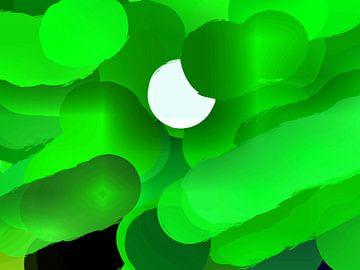 Moon Sun green van Judith Robben