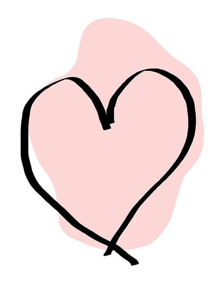 Herz rosa von Qeimoy