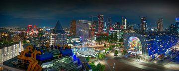 Panorama der Rotterdamer Skyline von Thom Brouwer
