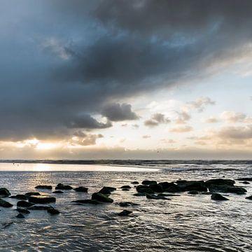 la roche et l'eau sur Arjan van Duijvenboden