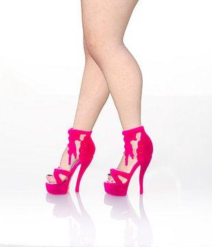 Roze  plastic speelgoed hooggehakte sandalet van Peter Hermus