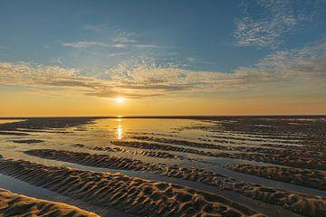 Zonsondergang Tweede Maasvlakte van Leo Kramp Fotografie
