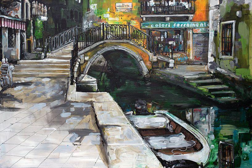 Venetië (Italie) schilderij van Jos Hoppenbrouwers