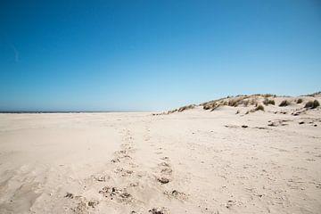 Strand op Schiermonnikoog van Merel van Luijk