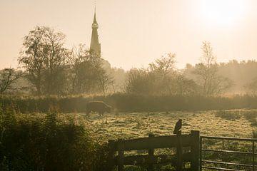 Kerk in de mist van Koen Boelrijk